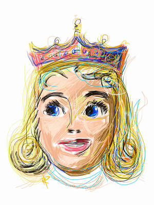 The Princess Art Print by Russell Pierce