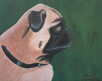 The Pug Art Print by Dan Leamons