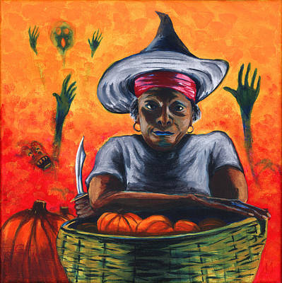 The Pumpkin Vendor  Art Print by Gail Finn