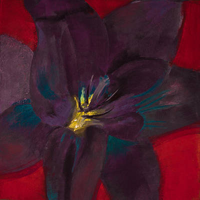 The Purple Lily Original by David Patterson