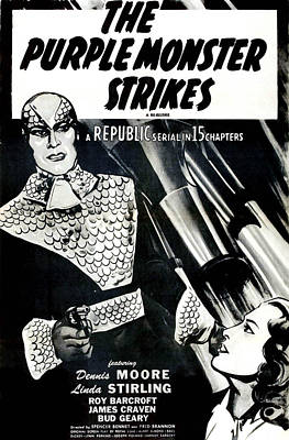 The Purple Monster Strikes, Aka, D-day Art Print