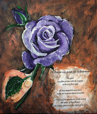 Mixed Media - The Purple Rose by Elisabeth Dubois