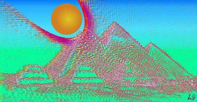 The Pyramids Art Print by Helmut Rottler