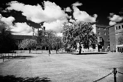 the quad inside the main lanyon building site of Queens University Belfast Northern Ireland UK Art Print