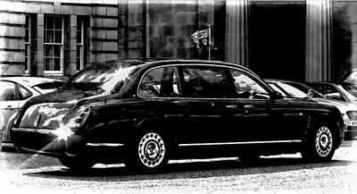 Digital Art - The Queen In Her Bentley by Carrie OBrien Sibley