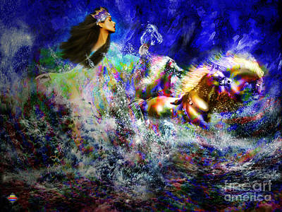 The Queen In Southern Sea Art Print by Vidka Art