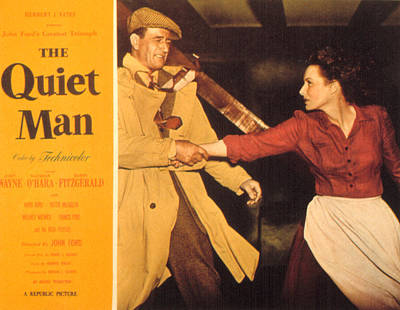 The Quiet Man, John Wayne, Maureen Art Print by Everett