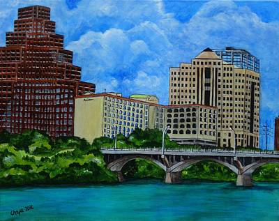 Painting - The Radisson - Congress Avenue by Manny Chapa
