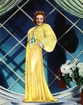 Evening Gown Photograph - The Rage Of Paris, Danielle Darrieux by Everett