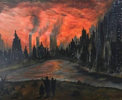 Deforestation Painting - The Ravage by Ashwatha Gowda