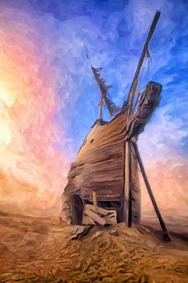 Scow Painting - The Ravages Of Time by Dominic Piperata