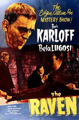 The Raven, Top Left Boris Karloff Art Print