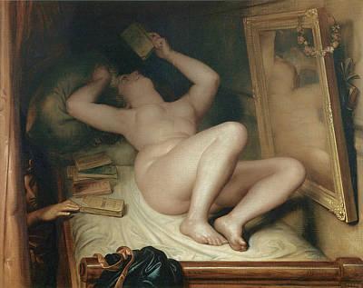 Novel Painting - The Reader Of Novels by Antoine Wertz
