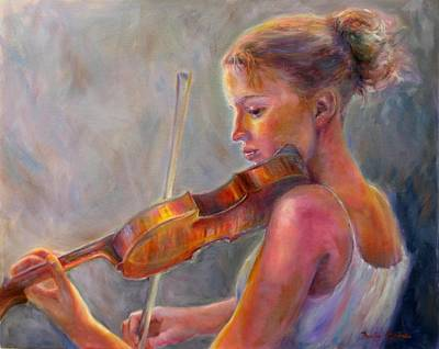 Painting - The Recital by Bonnie Goedecke