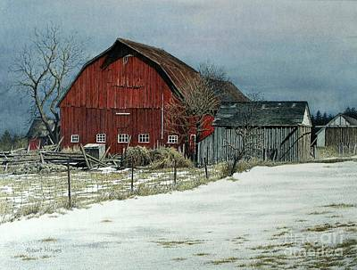 Painting - The Red Barn by Robert Hinves