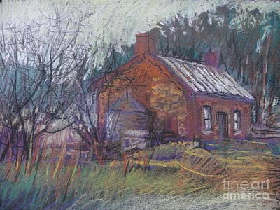 Painting - The Red Cottage by Pamela Pretty
