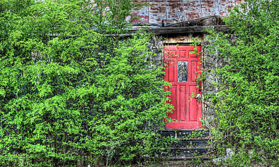The Red Door Art Print by JC Findley