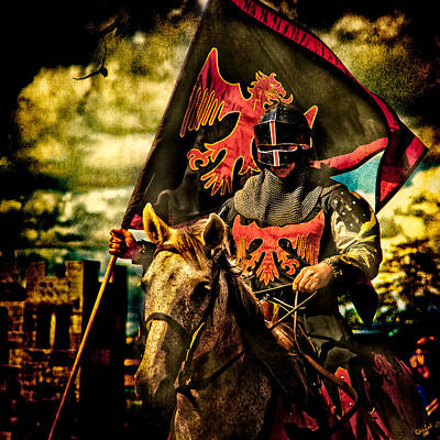 Photograph - The Red Knight Rides Forth by Chris Lord