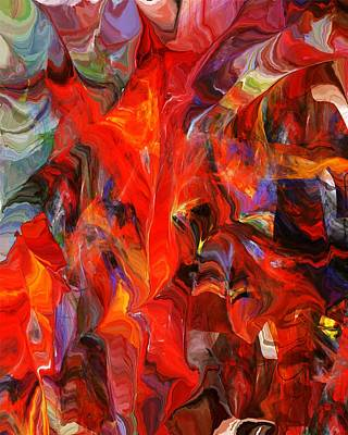 Expressionism Digital Art - The Red Mask Of Chaos 111211 by David Lane