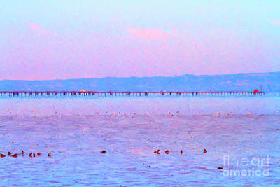 The Red Pier . 7d12310 Art Print by Wingsdomain Art and Photography
