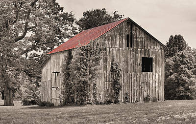 The Red Roof Print by JC Findley
