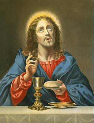 Communion Painting - The Redeemer by Carlo Dolci