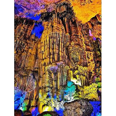 Trip Wall Art - Photograph - The Reed Flute Cave (chinese: by Tommy Tjahjono