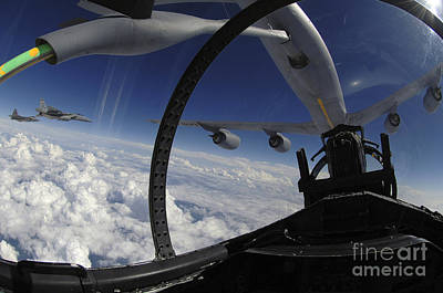The Refueling Boom From A Kc-135 Art Print by Stocktrek Images