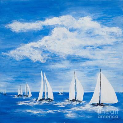 Painting - The Regatta by Pati Pelz