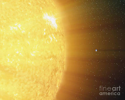 Sun Rays Digital Art - The Relative Sizes Of The Sun by Stocktrek Images