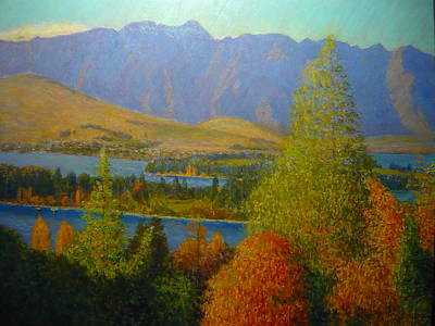 Painting - The Remarkables Autumn by Terry Perham