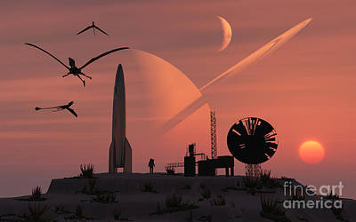 Digital Art - The Remnants Of A Long Abandoned Colony by Mark Stevenson