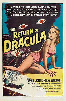 Fid Photograph - The Return Of Dracula, Francis Lederer by Everett