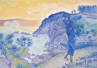 Pointillist Painting - The Return Of The Fisherman by Henri-Edmond Cross