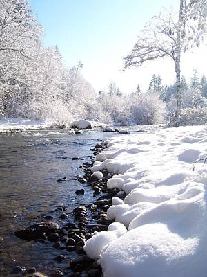 Photograph - The River In Winter by Peter Mooyman
