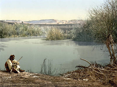 The River Jordan, Holy Land, Jordan Print by Everett