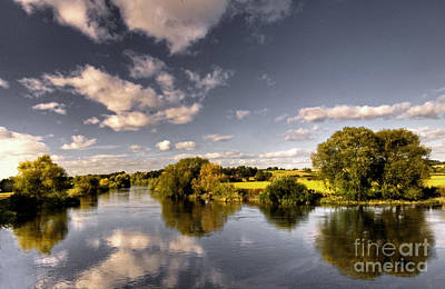 Inn River Photograph - The River Severn At Cound  by Rob Hawkins