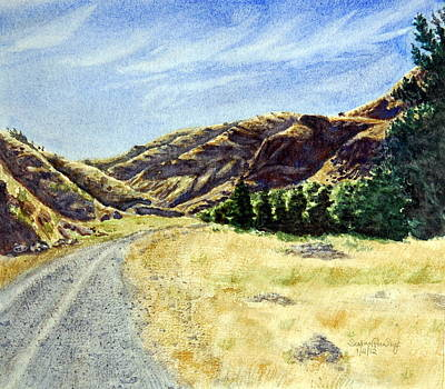 Gravel Road Painting - The Road Home by Susan Pawley