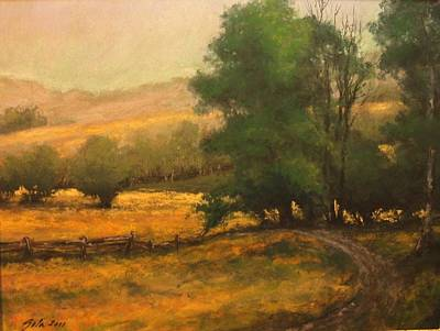 Mountain Scenery Wall Art - Painting - The Road Less Traveled by Jim Gola