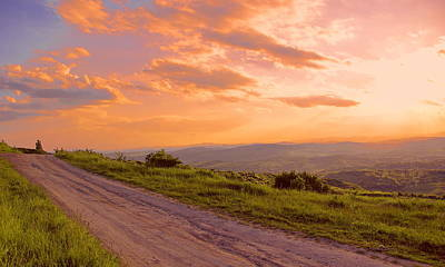 Photograph - The Road Near Valley by Bogdan M Nicolae