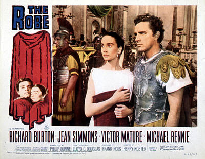 Posth Photograph - The Robe, Jean Simmons, Richard Burton by Everett