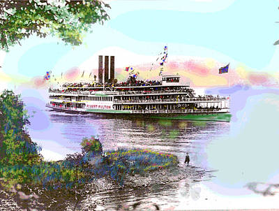 1-charles-shoup.fineartamerica.com Mixed Media - The Robert Fulton by Charles Shoup