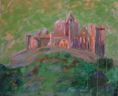 The Rock Of Cashel Art Print by Rosemen Elsayad