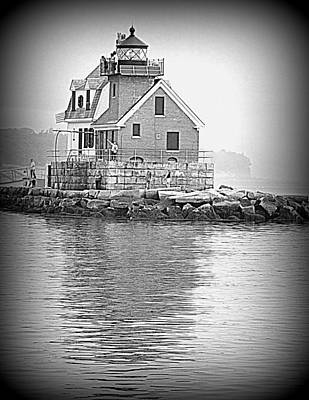 Photograph - The Rockland Breakwater Light by Doug Mills
