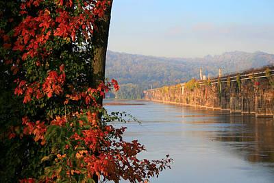The Rockville In Autumn Print by Lori Deiter