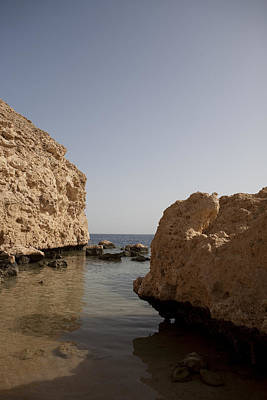 Aqaba Photograph - The Rocky Arid Coastline Of The Red Sea by Taylor S. Kennedy