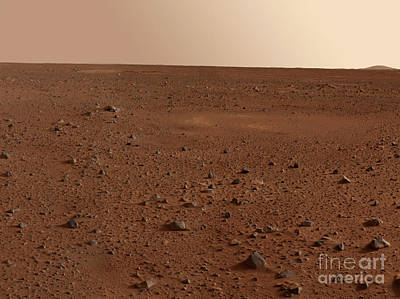Photograph - The Rocky Surface Of Mars by Stocktrek Images