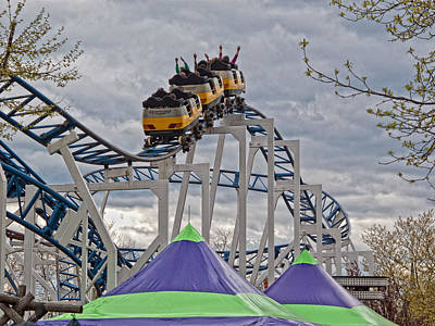 Roller Coaster Photograph - The Roller Coaster by Linda Pulvermacher