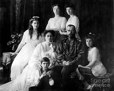 The Romanovs, Last Royal Family Print by Photo Researchers
