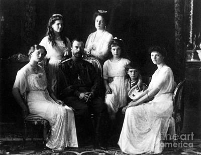 Tatiana Photograph - The Romanovs, Russian Tsar With Family by Science Source